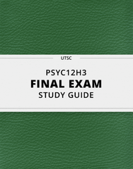 [PSYC12H3] - Final Exam Guide - Everything you need to know! (123 pages long)