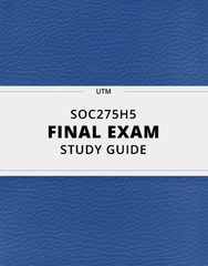 [SOC275H5] - Final Exam Guide - Comprehensive Notes for the exam (47 pages long!)