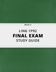 [LING 1P92] - Final Exam Guide - Everything you need to know! (40 pages long)