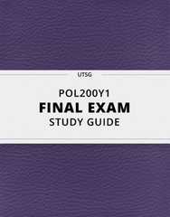[POL200Y1] - Final Exam Guide - Comprehensive Notes for the exam (103 pages long!)