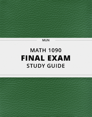[MATH 1090] - Final Exam Guide - Everything you need to know! (139 pages long)
