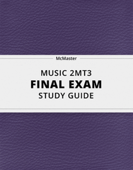 [MUSIC 2MT3] - Final Exam Guide - Everything you need to know! (73 pages long)