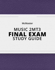 [MUSIC 2MT3] - Final Exam Guide - Comprehensive Notes for the exam (75 pages long!)