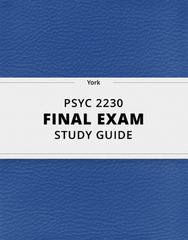 [PSYC 2230] - Final Exam Guide - Ultimate 71 pages long Study Guide!