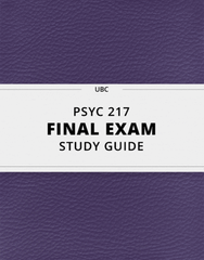 [PSYC 217] - Final Exam Guide - Ultimate 96 pages long Study Guide!