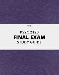 [PSYC 2120] - Final Exam Guide - Comprehensive Notes for the exam (89 pages long!)