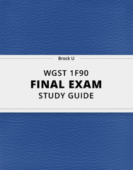 [WGST 1F90] - Final Exam Guide - Everything you need to know! (39 pages long)