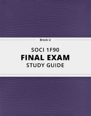 [SOCI 1F90] - Final Exam Guide - Ultimate 68 pages long Study Guide!