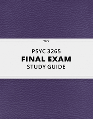 [PSYC 3265] - Final Exam Guide - Everything you need to know! (87 pages long)