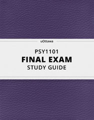 [PSY1101] - Final Exam Guide - Comprehensive Notes for the exam (102 pages long!)