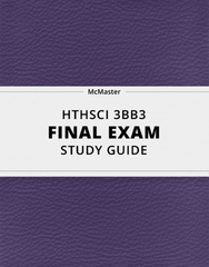[HTHSCI 3BB3] - Final Exam Guide - Ultimate 118 pages long Study Guide!