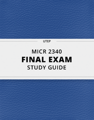 MICR 2340 Lecture 20: [MICR 2340] - Final Exam Guide - Comprehensive Notes fot the exam (60 pages long!)