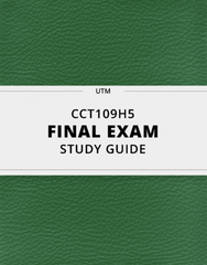 [CCT109H5] - Final Exam Guide - Ultimate 44 pages long Study Guide!