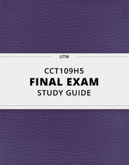 [CCT109H5] - Final Exam Guide - Everything you need to know! (53 pages long)