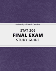 [STAT 206] - Final Exam Guide - Everything you need to know! (27 pages long)
