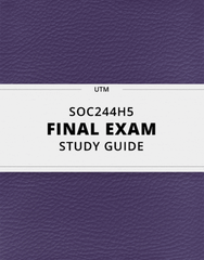 [SOC244H5] - Final Exam Guide - Ultimate 92 pages long Study Guide!