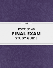 [PSYC 3140] - Final Exam Guide - Ultimate 224 pages long Study Guide!