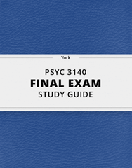 [PSYC 3140] - Final Exam Guide - Ultimate 170 pages long Study Guide!