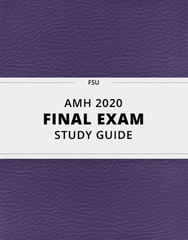 [AMH 2020] - Final Exam Guide - Comprehensive Notes for the exam (59 pages long!)