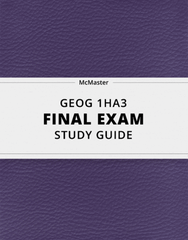 [GEOG 1HA3] - Final Exam Guide - Everything you need to know! (40 pages long)