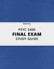 [PSYC 2400] - Final Exam Guide - Comprehensive Notes for the exam (44 pages long!)