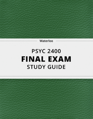 [PSYC 2400] - Final Exam Guide - Ultimate 44 pages long Study Guide!