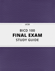 [BICD 100] - Final Exam Guide - Everything you need to know! (112 pages long)