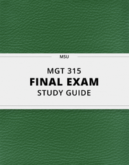 [MGT 315] - Final Exam Guide - Everything you need to know! (93 pages long)