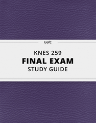 [KNES 259] - Final Exam Guide - Ultimate 69 pages long Study Guide!