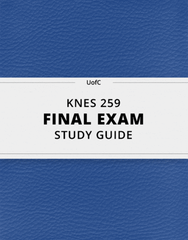 [KNES 259] - Final Exam Guide - Everything you need to know! (41 pages long)