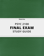 [PSYC 2100] - Final Exam Guide - Ultimate 43 pages long Study Guide!