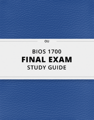 [BIOS 1700] - Final Exam Guide - Ultimate 76 pages long Study Guide!