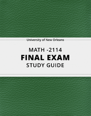 [MATH -2114] - Final Exam Guide - Everything you need to know! (145 pages long)