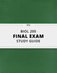 [BIOL 205] - Final Exam Guide - Ultimate 155 pages long Study Guide!