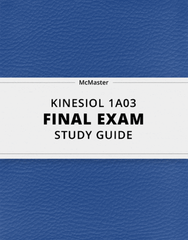 [KINESIOL 1A03] - Final Exam Guide - Everything you need to know! (79 pages long)