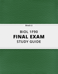 [BIOL 1F90] - Final Exam Guide - Comprehensive Notes for the exam (73 pages long!)
