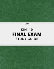 [KIN110] - Final Exam Guide - Everything you need to know! (154 pages long)