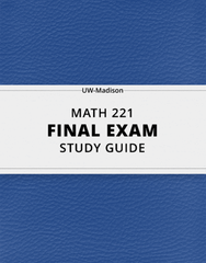 [MATH 221] - Final Exam Guide - Ultimate 26 pages long Study Guide!
