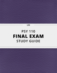 [PSY 110] - Final Exam Guide - Comprehensive Notes for the exam (35 pages long!)