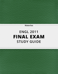 [ENGL 2011] - Final Exam Guide - Ultimate 98 pages long Study Guide!