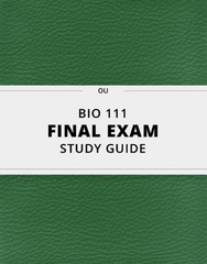 [BIO 111] - Final Exam Guide - Everything you need to know! (76 pages long)