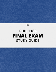 [PHIL 1165] - Final Exam Guide - Everything you need to know! (35 pages long)