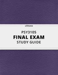 [PSY3105] - Final Exam Guide - Ultimate 53 pages long Study Guide!