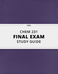 [CHEM 231] - Final Exam Guide - Everything you need to know! (36 pages long)