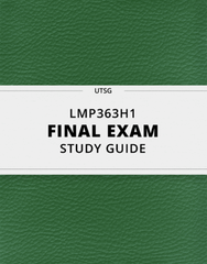 [LMP363H1] - Final Exam Guide - Ultimate 33 pages long Study Guide!