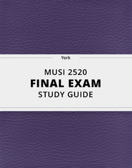 [MUSI 2520] - Final Exam Guide - Everything you need to know! (42 pages long)