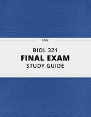 [BIOL 321] - Final Exam Guide - Everything you need to know! (82 pages long)