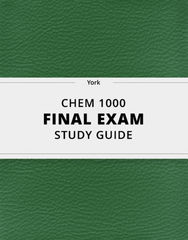 [CHEM 1000] - Final Exam Guide - Comprehensive Notes for the exam (57 pages long!)