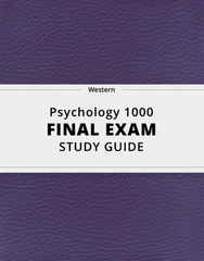 [Psychology 1000] - Final Exam Guide - Comprehensive Notes for the exam (1643 pages long!)