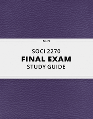 [SOCI 2270] - Final Exam Guide - Ultimate 50 pages long Study Guide!